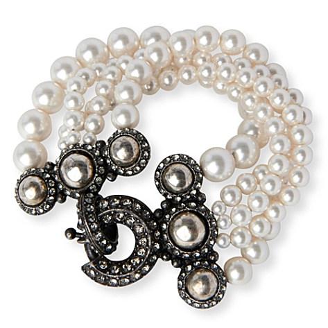 lanvin multi strand glass pearl bracelet 150x150 Wedding props From