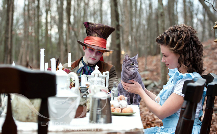 Engagement Shoot by Lauren Brimhall: Alice In Wonderland style