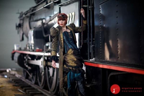 Steampunk Wedding Train