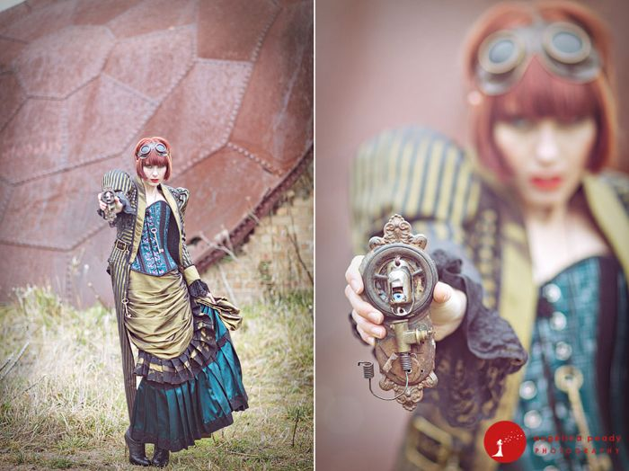 steampunk wedding 16a rm Steampunk Wedding Photo Shoot by Angie Peady Wedding Blog