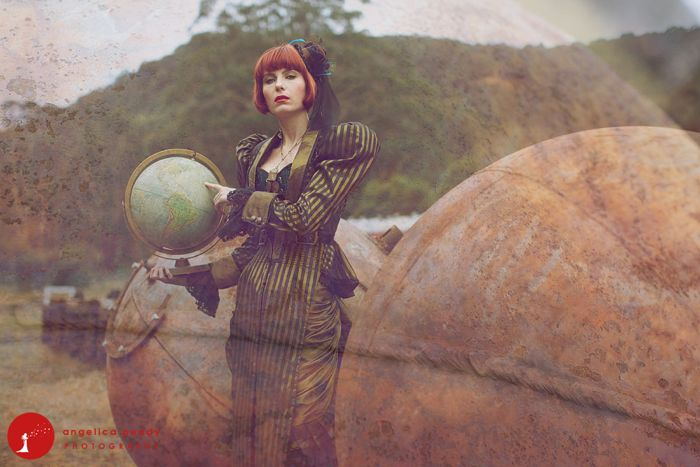 Steampunk Wedding Photo Shoot by Angie Peady