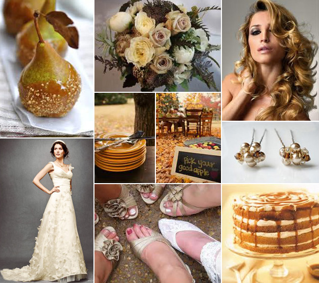 Inspiration Board: Autumn Caramel & Cream