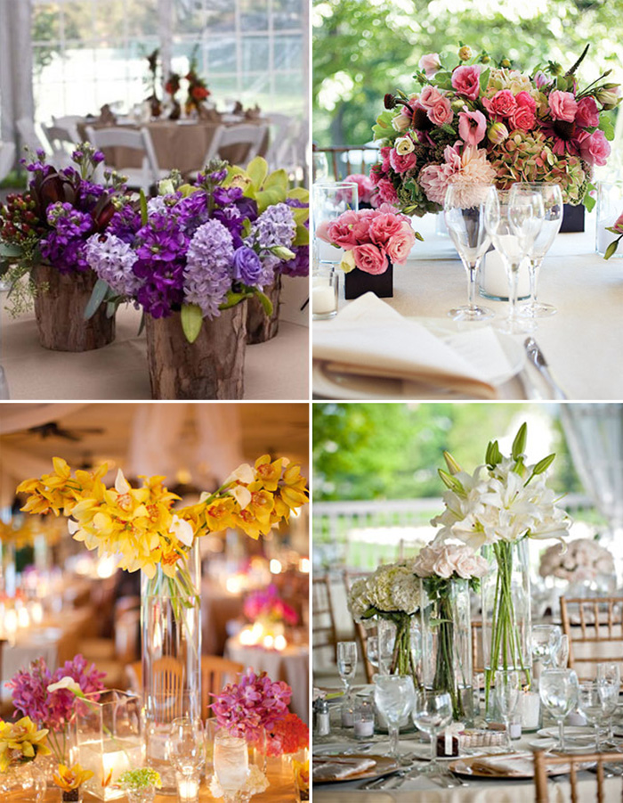 Chosing Wedding Flowers: Centrepieces