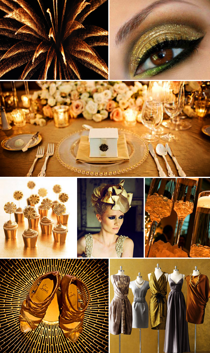 Inspiration Board: Gold Sparkle