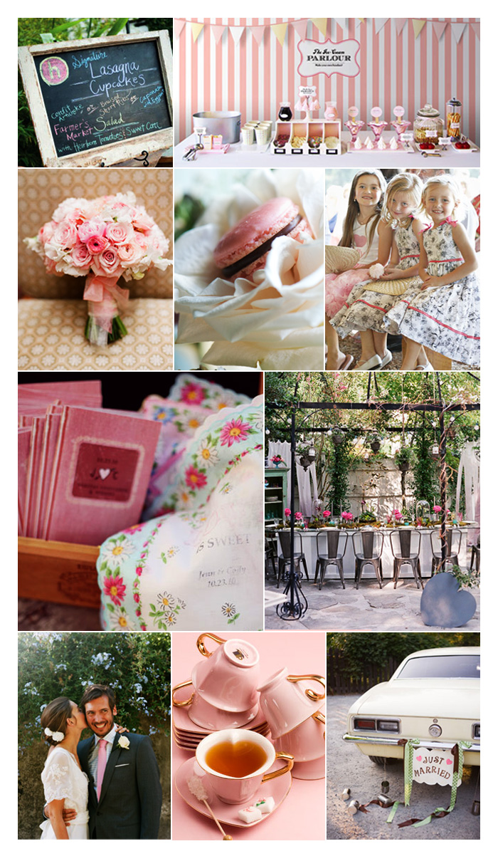 Inspiration Board: Pink Shabby Chic Wedding