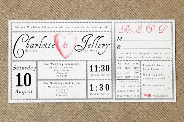 Modern Wedding Invites Uk: Vintage Wedding Invitations By Vintage Designs