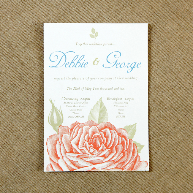 Vintage Wedding Invitations by Vintage Designs