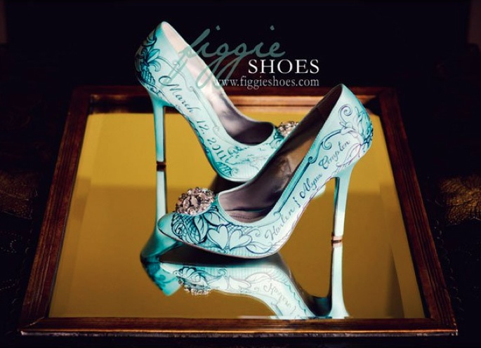 Figgie shoes 02 Unique wedding shoes: hand painted pieces of art for your heart and sole Wedding Blog