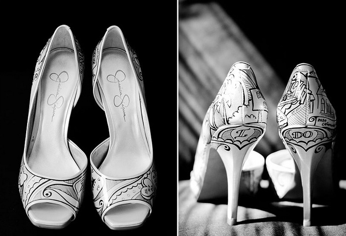 Figgie shoes 05 Unique wedding shoes: hand painted pieces of art for your heart and sole Wedding Blog