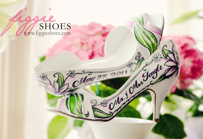 Figgie shoes 06 Unique wedding shoes: hand painted pieces of art for your heart and sole Wedding Blog