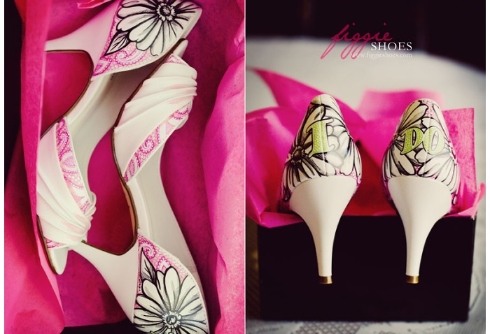 Figgie shoes 08 Unique wedding shoes: hand painted pieces of art for your heart and sole Wedding Blog