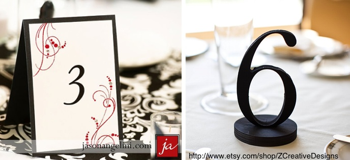 Some gorgeous photos of unique wedding table numbers
