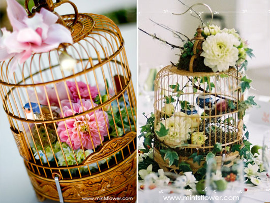 Some spectacular Wedding Bird Cages and a little Alice In Weddingland surprise