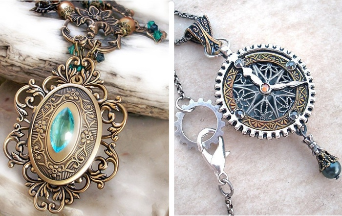 Steampunk Wedding Jewellery: From Cameo to Swarovski crystals