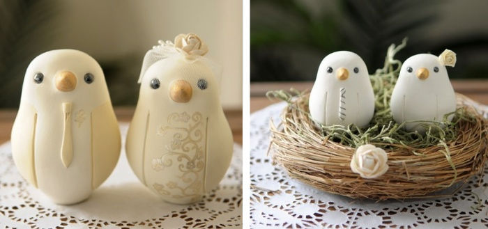 Wedding Cake Toppers - Red Light Studio - Birdies