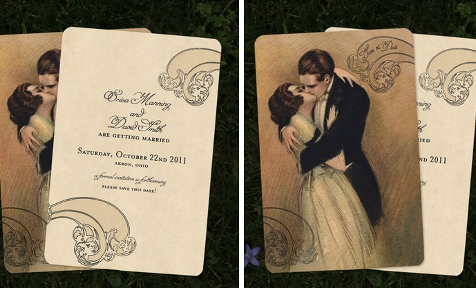Go Go Snap Wedding Invitations:  Retro, vintage and oozing style