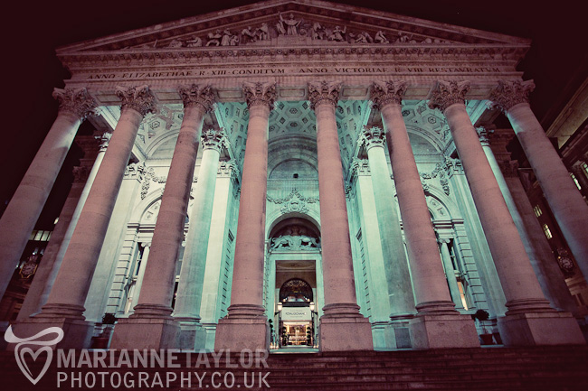 The Royal Exchange, Bank: Wedding Reception site