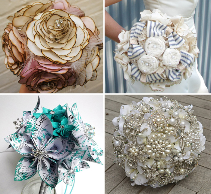 Wedding Bouquets Not Flowers