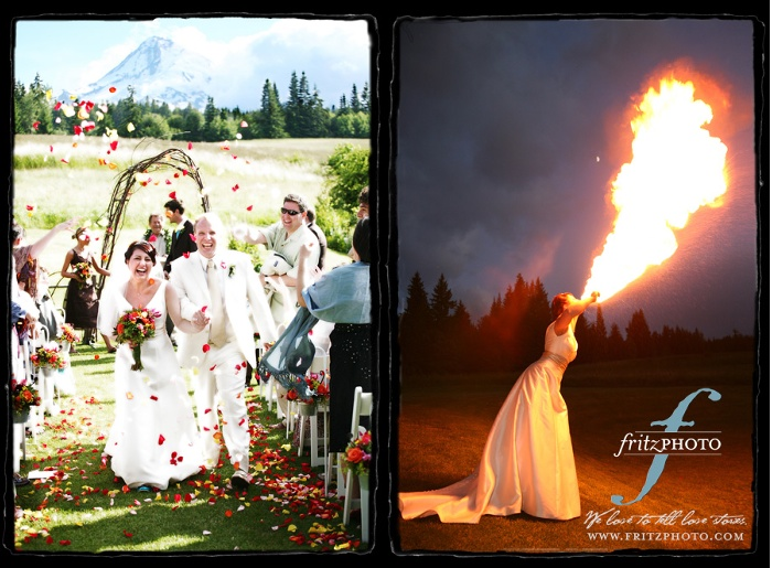 Fire breathing Bride: A stunning portrait!