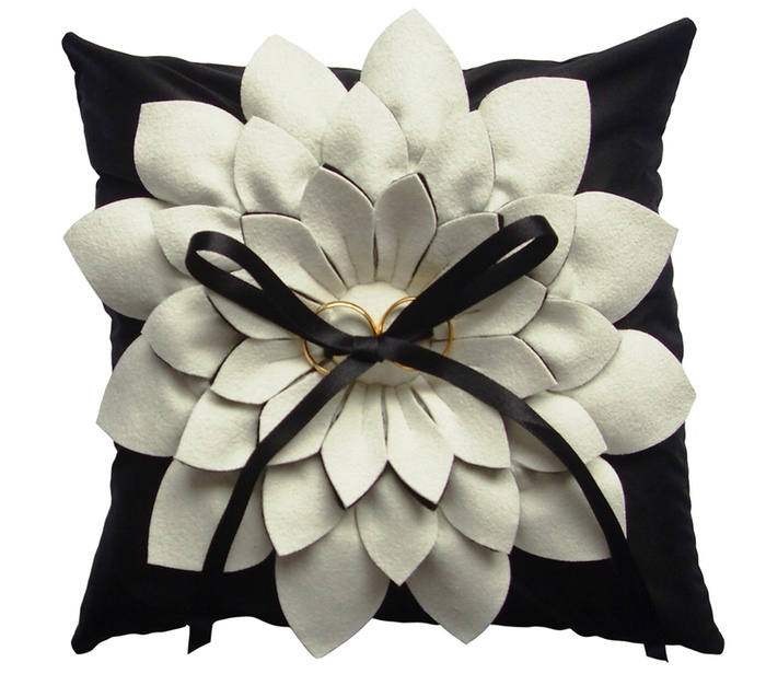 Wedding Ring Pillows by Anna Whitford