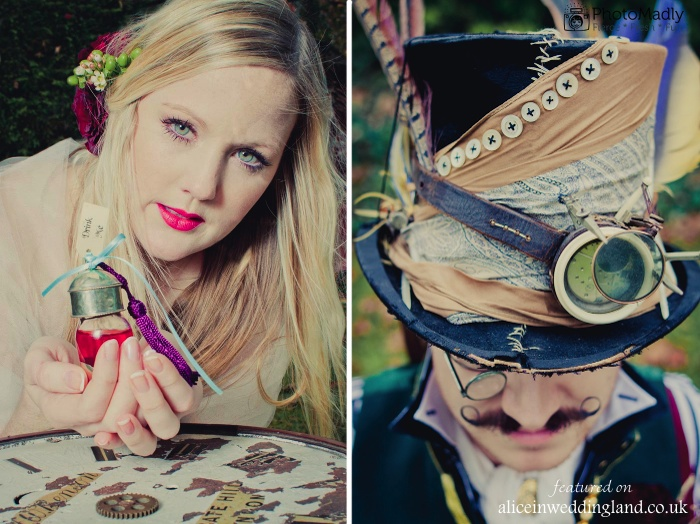 Alice In Wonderland steampunk inspired photo shoot