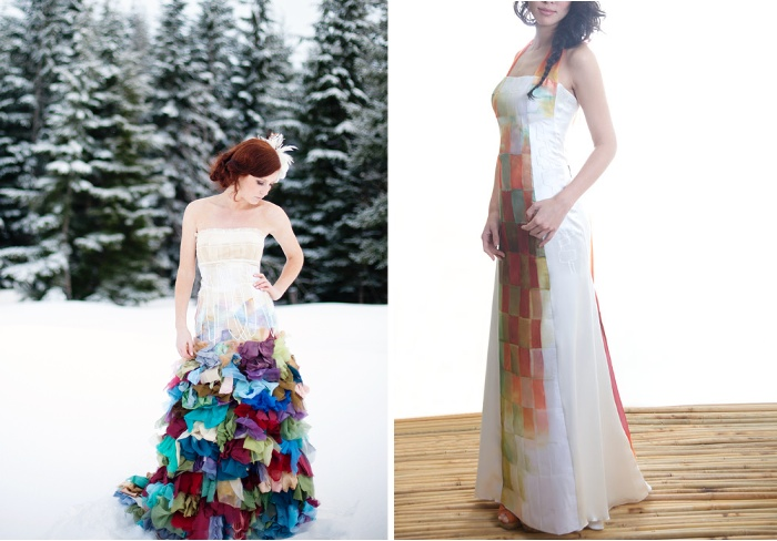 The alternative wedding dress: Wild and colourful couture by Wai ...