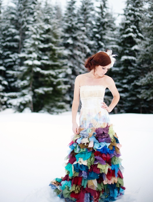 The alternative wedding dress: Wild and colourful couture by Wai Ching