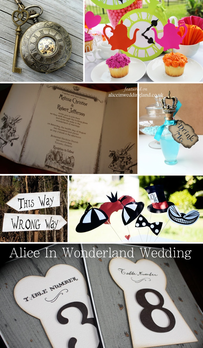 Alice In Wonderland wedding ideas: a moodboard full of decor