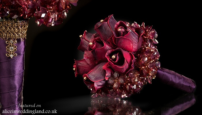 Alternative wedding bouquets LittleBouquetShop AIW wedding blog06 Nontraditional bridal bouquets: gothic elegance by The Little Bouquet Shop Wedding Blog
