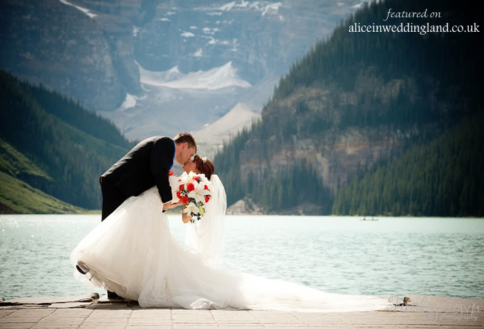 Real Weddings Stephanie Amp Michaels Chateau Lake Louise Romance