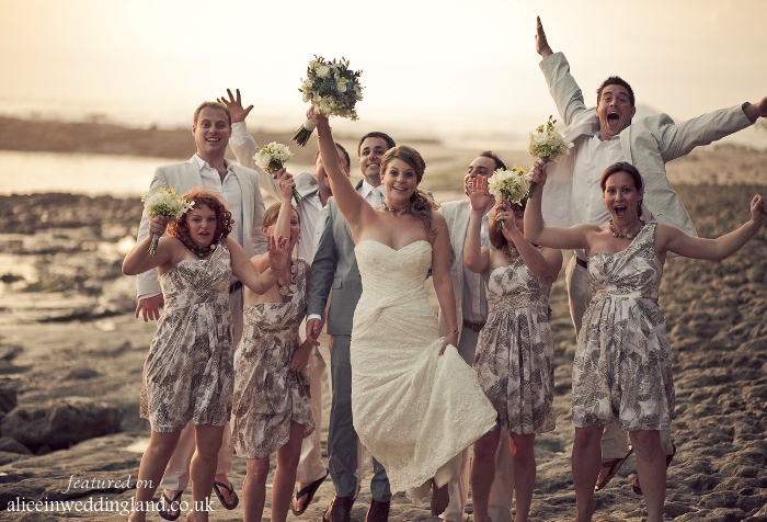 Real Wedding:  The barefoot Bride