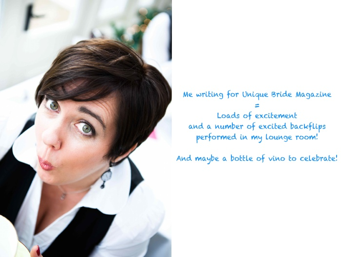 Frabjous News Flash: I'm going to write for the new Unique Bride Magazine!