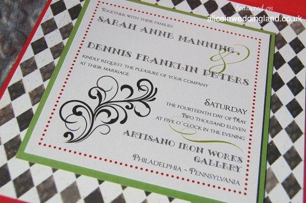 Unique Wedding Invitations Also Inspired By Alice In Wonderland