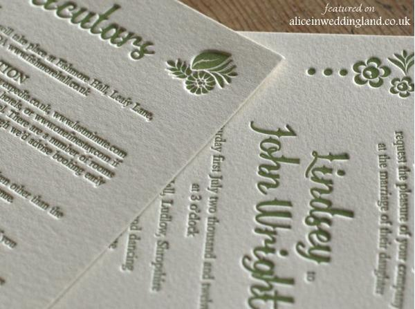 Unique letterpress wedding invitations: a touchy-feely art form