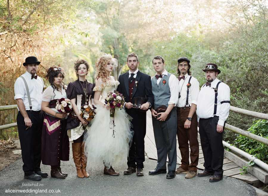 I felt like I was on a movie set Steampunk wedding unique wedding