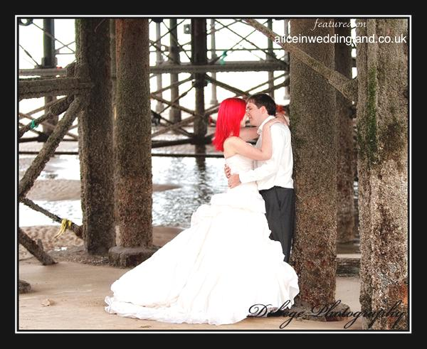 Trash The Dress shoot in Blackpool