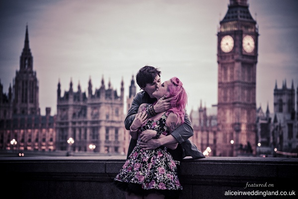 Engagement shoot: Kat and Ady's London visual