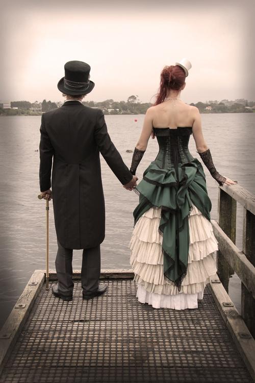 steampunk wedding AIW unique wedding blog 06 NZ Steampunk affair with a budget of $500NZ Wedding Blog