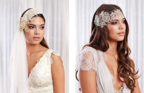 JannieBaltzer03 unique bridal headwear Unique bridal tiaras and headwear by Jannie Baltzer Wedding Blog