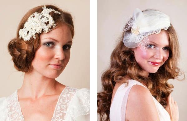 JannieBaltzer07 unique bridal headwear Unique bridal tiaras and headwear by Jannie Baltzer Wedding Blog