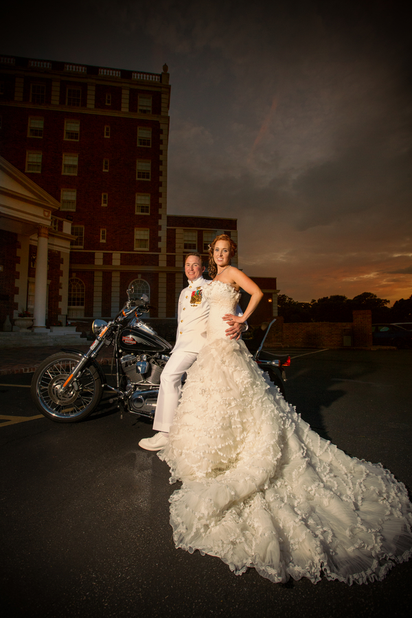 Megan and Devin's Purple Virginia Beach wedding