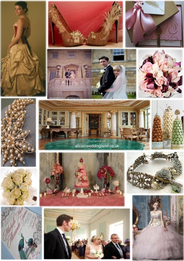 Wedding Mood Board - Rococo theme