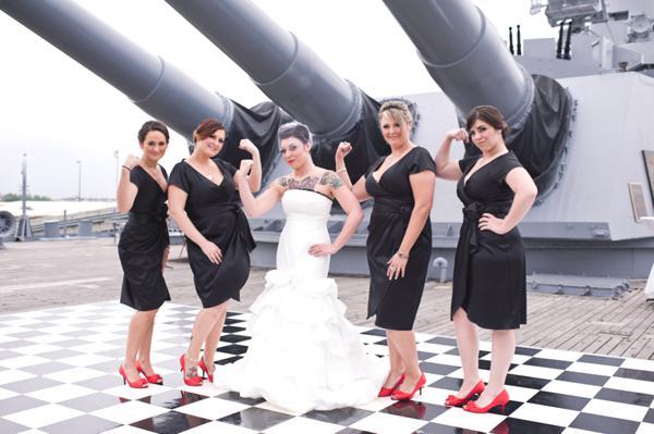 Real wedding:  All aboard the USS Alabama