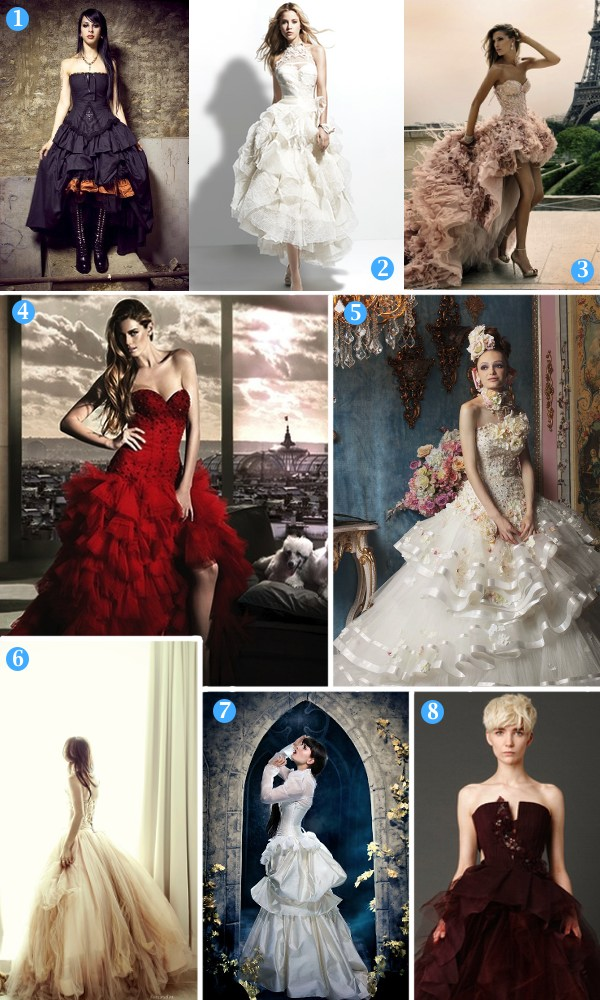 Mood Board Monday: The unique wedding dress {alternative styles}