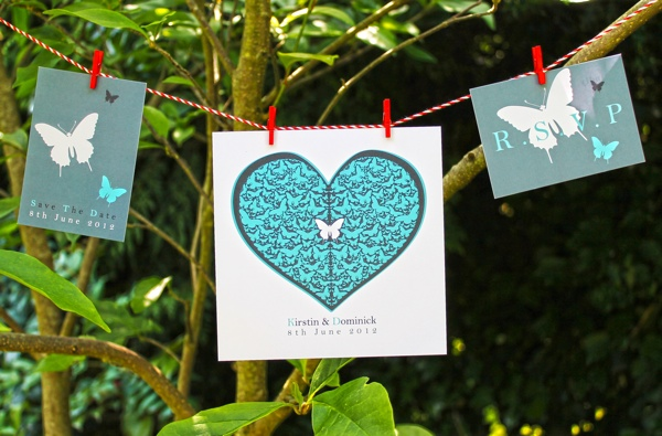 Stunning bespoke wedding invitations by Wendy Bell Designs