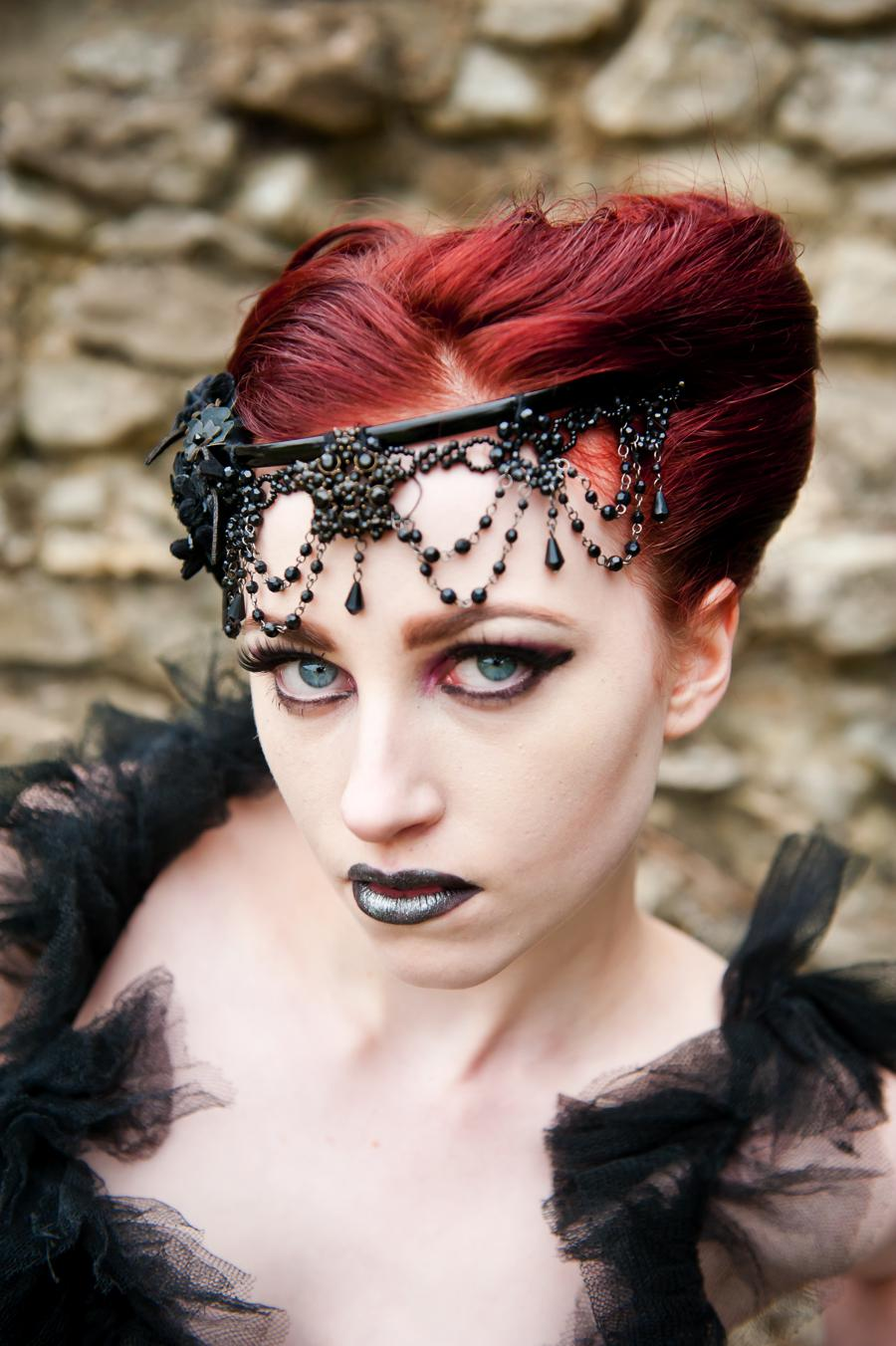 Awesome Wedding Photo Shoot Victorian Gothic Alice In Weddingland Short Hairstyles Gunalazisus