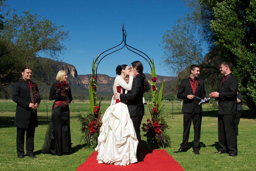 Real wedding: An Australian Gothic Wedding